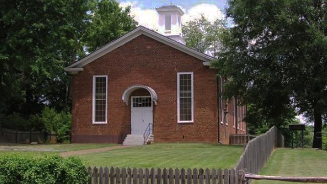 st philips brick church summer